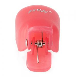 Professional Reusable Plastic Nail Art Soakers with Cap Clip for UV Gel Polish Remover Wrap Tool -