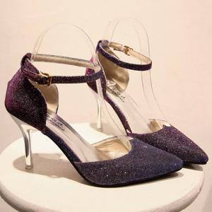 Graceful Sequined and Two-Piece Design Women's Pumps -