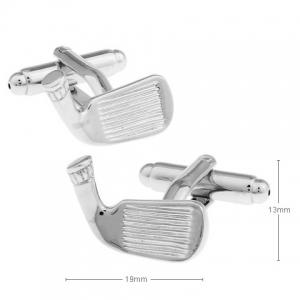 Pair of Stylish Solid Color Golf Club Shape Cufflinks For Men -