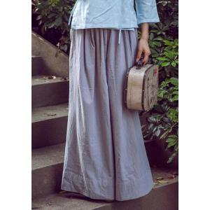 Vintage Loose-Fitting Solid Color Wide Leg Pants For Women