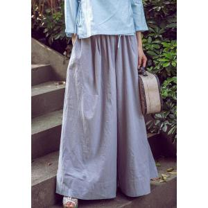 Vintage Loose-Fitting Solid Color Wide Leg Pants For Women -