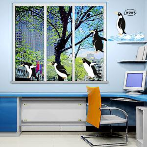 A Set of Sweet Home Decoration PVC Penguin Pattern Decorative Wall Stickers -