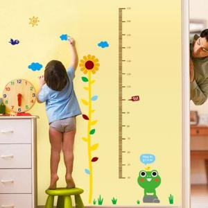 Sweet Home Decoration PVC Sunflower Pattern Height Stickers -