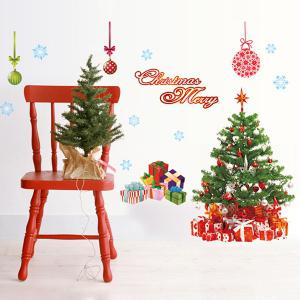 Chic Simple Home Decoration PVC Father Christmas Pattern Decorative Wall Stickers -