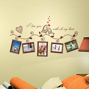 Stylish Photo Frame Pattern Home Decals PVC Wall Stickers -