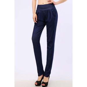 Brief Style Solid Color Pocket Design Women's Pencil Pants -