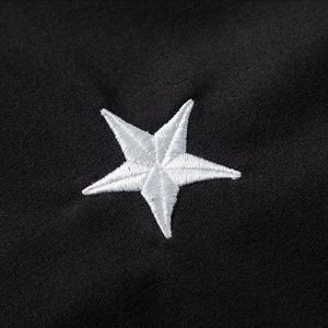 Stylish Slimming Hooded Five-Point Star Embroidery Long Sleeve Cotton Blend Hoodie For Men -