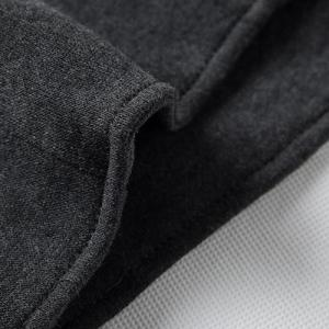 Fashion Slimming Hooded Oblique Zipper Placket Solid Color Long Sleeve Cotton Blend Hoodie For Men -