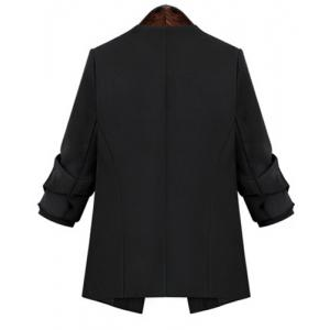 OL Style V-Neck Plus Size Long Sleeve Blazer For Women -