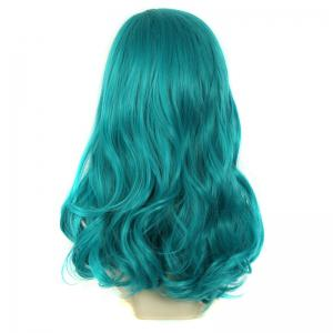 Towheaded Wavy Long Synthetic Charming Fashion Mint Green Centre Parting Women's Wig -