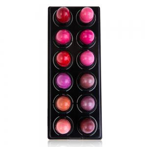 12 Charming Colors Lovely Tiny Moisturizing Shinning Lipstick Lip Gloss 12pcs/Pack - RED