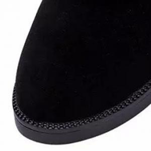 Concise Solid Color and Suede Design Women's Mid-Calf Boots -