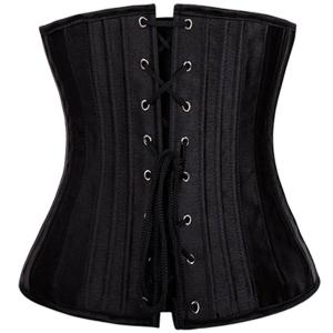 Sexy Strapless Solid Color Lace-Up Corset For Women -