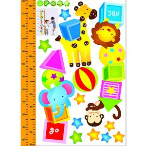 New Simple Cartoon Home Decoration Height Stickers -