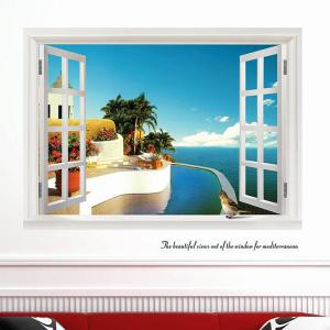 Chic Elegant Landscape Pattern Home Decoration Decorative Wall Stickers -
