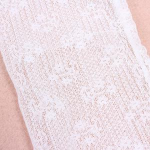 Pair of Chic Solid Color See-Through Long Lace Fingerless Gloves For Women -