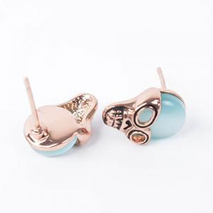 A Suit of Characteristic Faux Opal Skull Necklace and Earrings For Women - ROSE GOLD