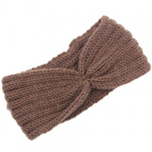 Chic Solid Color Stripy Knitted Headband For Women -