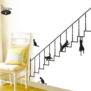 Simple New Creative Stair and Cat Pattern Home Decoration Decorative Wall Stickers -