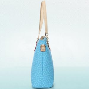 Stylish Print and Rivets Design Women's Shoulder Bag -