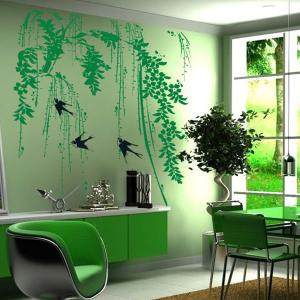 DIY Chic Creative Willow Branch Pattern Home Decoration Decorative Wall Stickers -