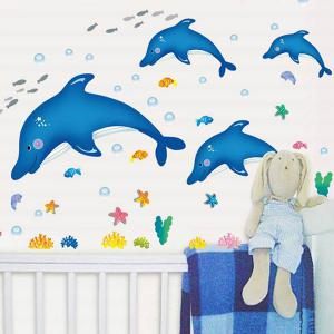 Stylish Creative DIY Dolphin Pattern Home Decoration Decorative Wall Stickers -