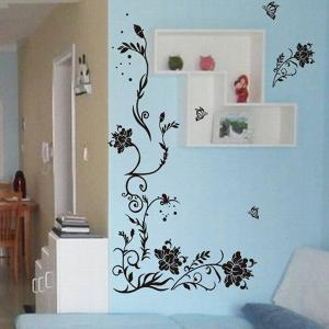 Stylish Simple Sweet DIY Floral Pattern Home Decoration Decorative Wall Stickers -