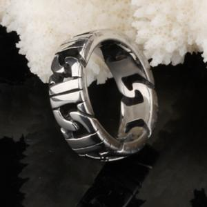 Punk Style Stainless Steel Ring - SILVER ONE-SIZE