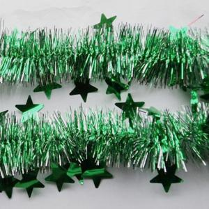 New Simple Christmas Decoration Star Embellished Garland For Christmas Tree -