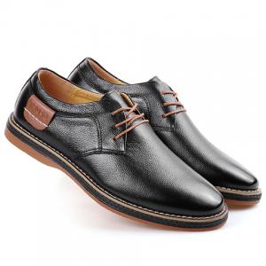 Simple Style Round Toe and Solid Color Design Men's Formal Shoes -