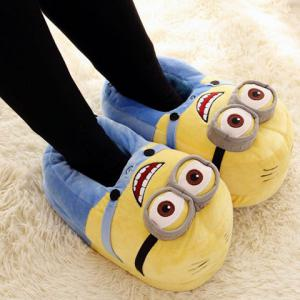 ... Sweet Cartoon and Color Block Design Women's Slippers ...