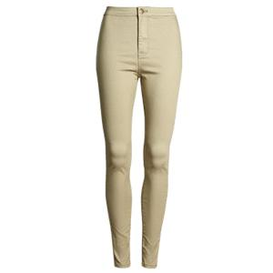 Stylish High Waisted Candy Color Women's Pants