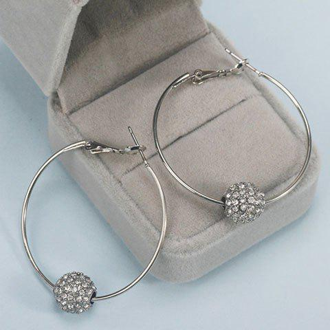 Shop Rhinestoned Bead Hoop Earrings