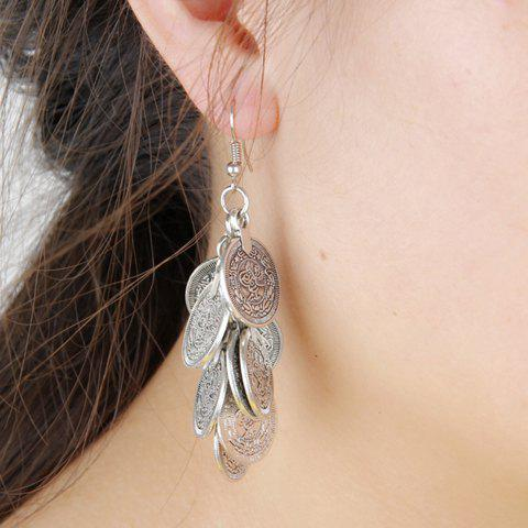 Trendy Pair of Vintage Tassel Coin Earrings