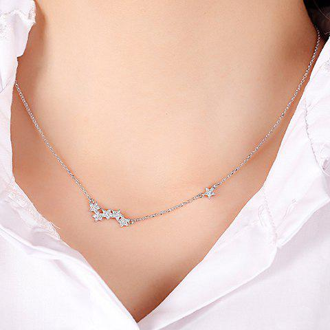 Unique Alloy Rhinestone Star Pendant Necklace