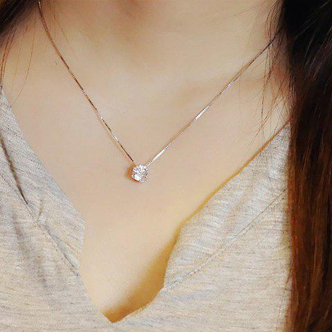 Shops Fake Crystal Pendant Necklace SILVER