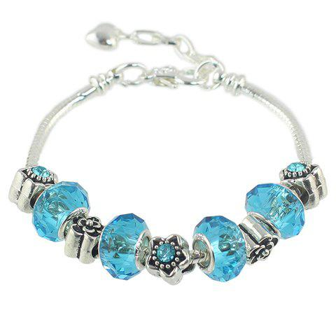 Fashion Faux Crystal Bead Flower Bracelet