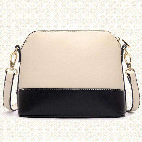 Online Elegant Bow and PU Leather Design Women's Crossbody Bag - OFF-WHITE  Mobile