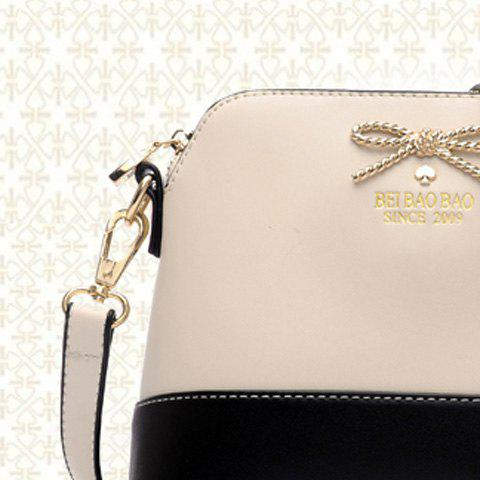 Latest Elegant Bow and PU Leather Design Women's Crossbody Bag - OFF-WHITE  Mobile