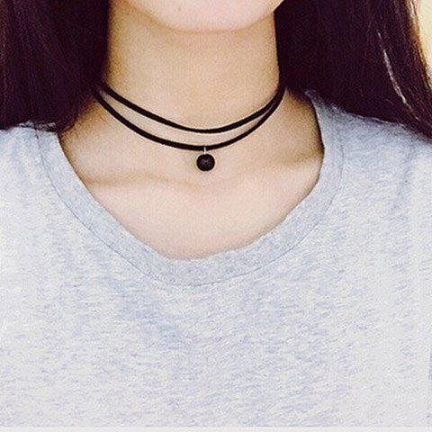 Shop Vintage Double Layered Bead Choker Necklace