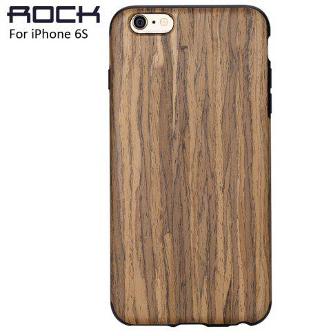 New Rock Wood and TPU Material Phone Back Cover Case with Wood Grain Design for iPhone 6S / 6S Plus