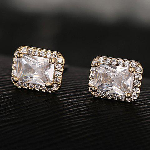 Best Pair of Exquisite Rhinestoned Square Earrings For Women
