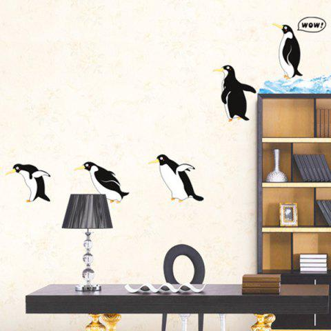 Hot A Set of Sweet Home Decoration PVC Penguin Pattern Decorative Wall Stickers