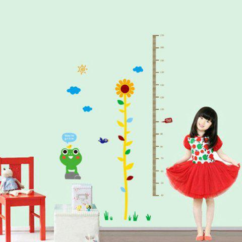 Fashion Sweet Home Decoration PVC Sunflower Pattern Height Stickers