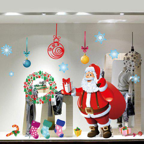 Store Chic Simple Home Decoration PVC Father Christmas Pattern Decorative Wall Stickers - COLORMIX  Mobile