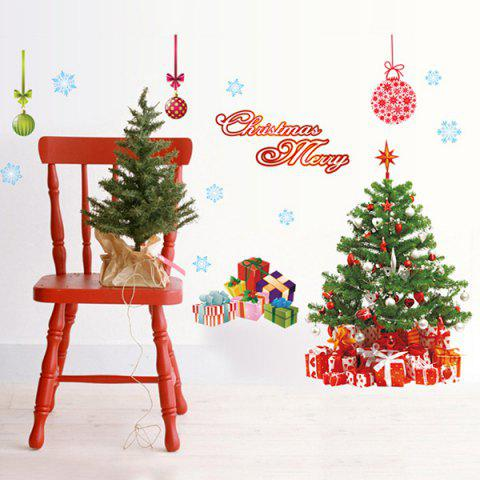 Chic Chic Simple Home Decoration PVC Father Christmas Pattern Decorative Wall Stickers - COLORMIX  Mobile