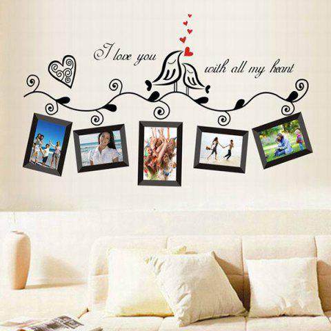 New Stylish Photo Frame Pattern Home Decals PVC Wall Stickers