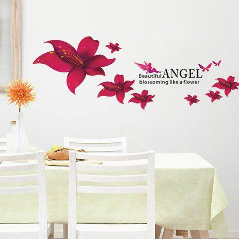 Buy Stylish Floral Pattern Home Decoration PVC Decorative Wall Stickers