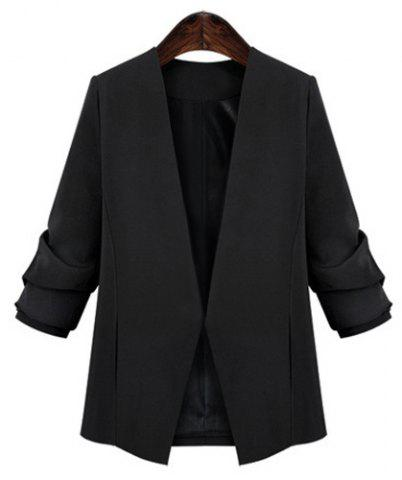 Unique OL Style V-Neck Plus Size Long Sleeve Blazer For Women
