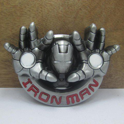 Shops Stylish Iron Man Head and Hand Shape Embellished Belt Buckle For Men